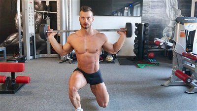 WALKING BARBELL LUNGES